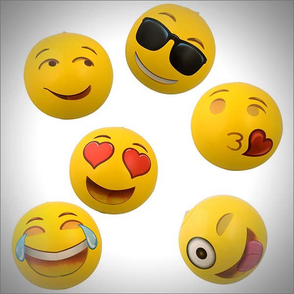 12-inch Emoji Inflatable Beach Balls