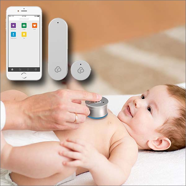 CliniCloud Non-contact Thermometer + Connected Stethoscope (works with iOS and Android)