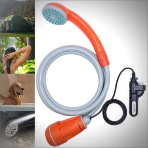 Portable-Camping-Shower,-Battery-Powered-Outdoor-Shower