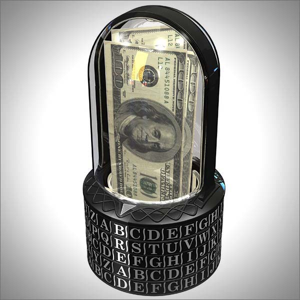 Puzzle Pod Cryptex - Brain Teaser & Coin Bank