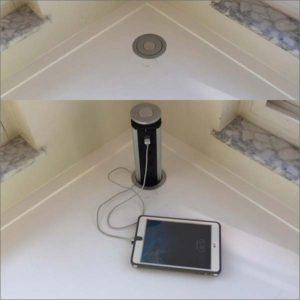 Pop Up USB Outlet, Tabletop Safe Hidden Outlet for Office, Meeting Room, Home