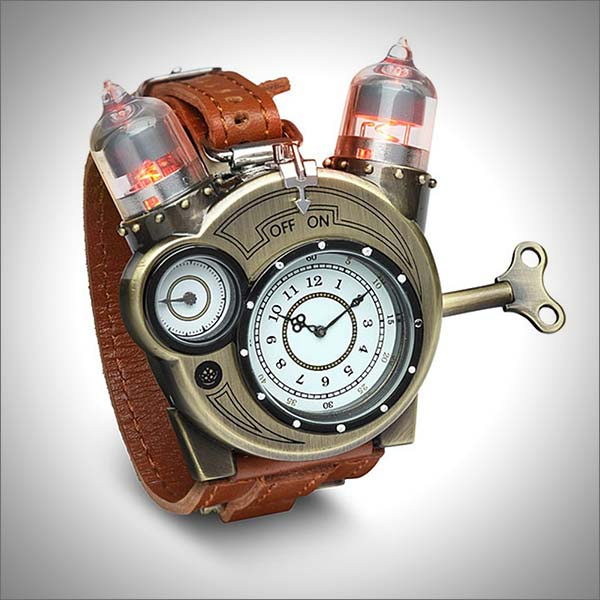 Steampunk Styled Tesla Analog Watch