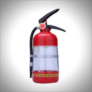Thirst Extinguisher Red Fire Novelty Drink Dispenser Cocktail Shaker