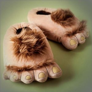 Furry Monster Adventure Slippers, Comfortable Novelty Warm Winter Hobbit Feet Slippers for Adults